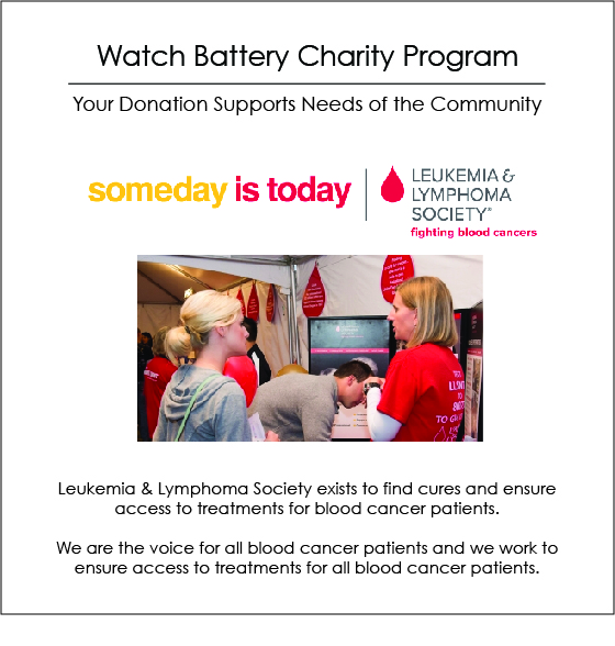 Watch Battery Charity Of The Month