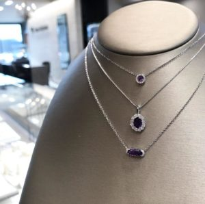 pantone color of the year ultra violet necklace