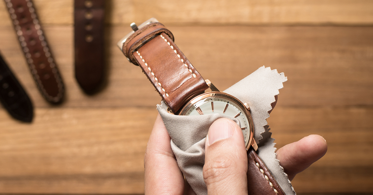 Cleaning your watch watch care