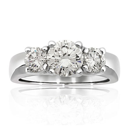 three stone ring style