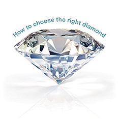 How to choose the right diamond.