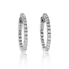 1 1/2 Carat Inside Out Diamond Hoop Earrings