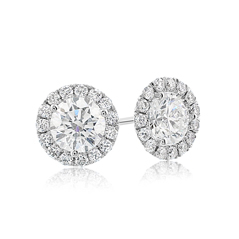 1.00 Carat Diamond Margarita Stud Earrings
