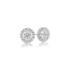 1/2 Carat Diamond Margarita Stud Earrings