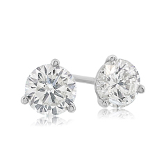 1.23 Carat Diamond Stud Earrings
