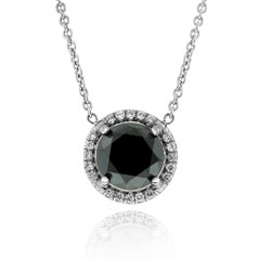 1.24 Carat Black Diamond Margarita Necklace