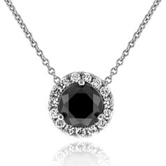 1.38 Carat Black Diamond Margarita Necklace