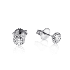1/4 Carat Diamond Margarita Stud Earrings