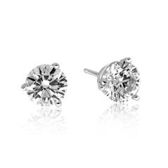 1.43 Carat Diamond Stud Earrings