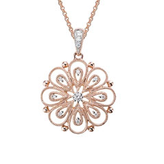 14K Rose Gold Blossom Necklace