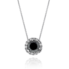 2.04 Carat Black & White Diamond Margarita Necklace