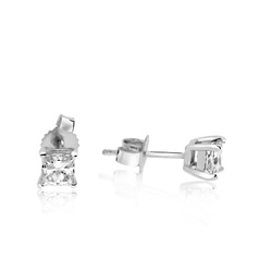2/3 Carat Princess Cut Diamond Studs