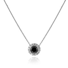 3/4 Carat Black Diamond Margarita Necklace