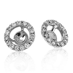 .38 Carat Diamond Margarita Earring Jackets