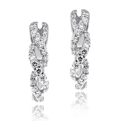 .38 Carat Twisted Diamond Hoops