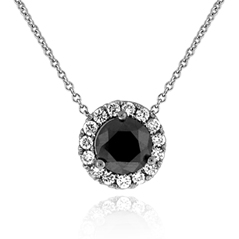 .75 Carat Black Diamond Margarita Necklace