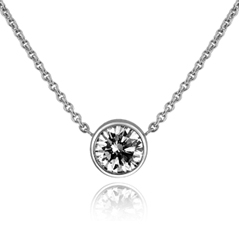7/8 Carat Diamond Solitaire Necklace