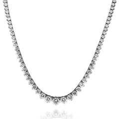 9.25 Carat Graduated Diamond Necklace