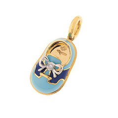 AARON BASHA Blue Saddle Shoe Charm