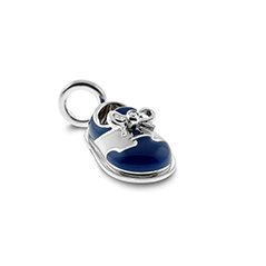 AARON BASHA Diamond Baby Saddle Shoe Charm
