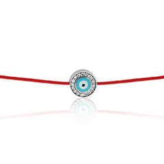 AARON BASHA Diamond Evil Eye Bracelet