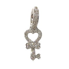 AARON BASHA Diamond Key Charm