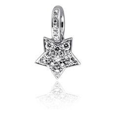 AARON BASHA Diamond Star Charm