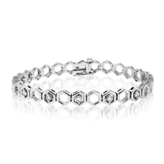 Add-A-Diamond Hexagon Link Bracelet