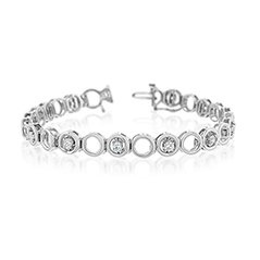 Add-A-Diamond Open Circle Tennis Bracelet