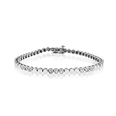 Add-A-Diamond Round Link Bracelet