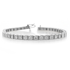 Add-A-Diamond Square Link Bracelet