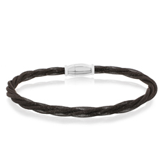 Amore Black Twisted Bracelet