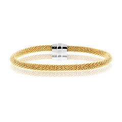 Amore Magnete Sterling Silver & Yellow Gold Plated Bracelet