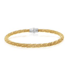 Amore Magnete Yellow Gold Plated Beaded Bracelet