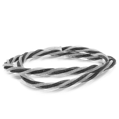 Amore Sterling Silver & Blackend Rhodium Double Wrap Bracelet