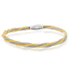 Amore Sterling Silver & Yellow Gold Plated Amore Bracelet