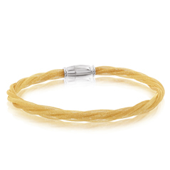 Amore Yellow Gold Twisted Bracelet