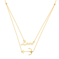 Anchor Your Love Duet Necklace