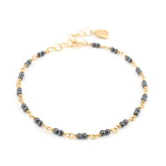 ANNE SPORTUN Black Spinel Beaded Bracelet
