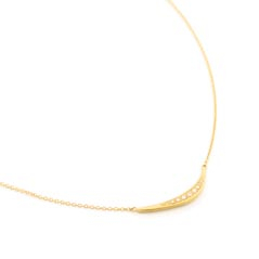 ANNE SPORTUN Diamond Crescent Necklace