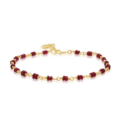 ANNE SPORTUN Ruby Beaded Bracelet