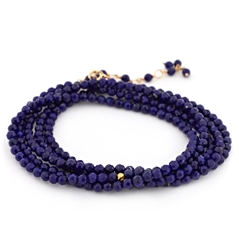 ANNE SPORTUN Wrap Lapis Beaded Bracelet