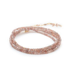 ANNE SPORTUN Wrap Mink Moonstone Beaded Bracelet