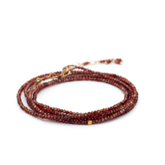 ANNE SPORTUN Wrap Port Zircon Beaded Bracelet