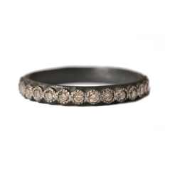ARMENTA Champagne Diamond Stack Ring