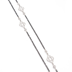 ARMENTA New World Scroll Station Necklace