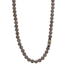 ARMENTA Old World Brown Moonstone, South Sea Pearl & Champagne Diamond Necklace