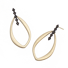 ARMENTA Old World Champagne Diamond Earrings