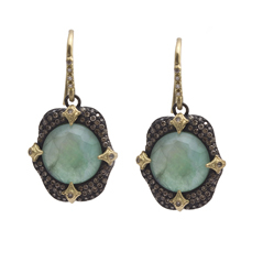 ARMENTA Old World Emerald Triplet Earrings