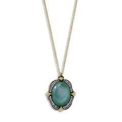ARMENTA Old World Emerald Triplet Pendant
